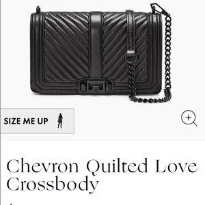 Rebecca Minkoff Quilted Love Crossbody Black